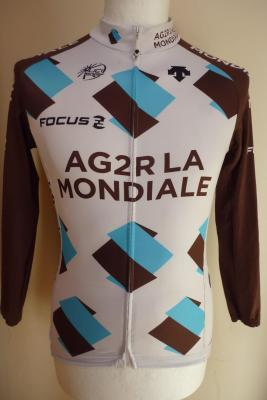 Maillot doublé manches longues AG2R 2015 (taille L)