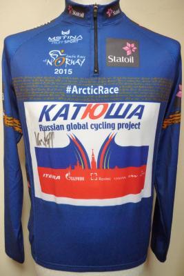 Maillot ML bleu protocole KATUSHA-ARCTIC RACE 2015