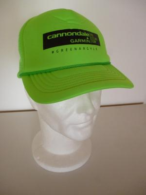 Casquette podium verte CANNONDALE-GARMIN