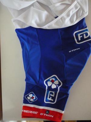 Cuissard bleu doublé FDJ (taille M, mod.1)