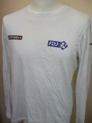 T-shirt ML blanc FDJ