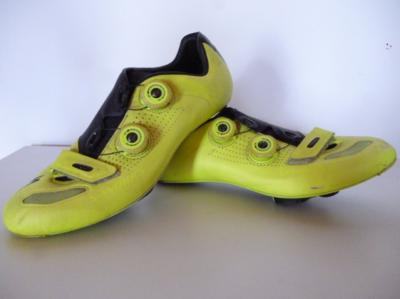 Chaussures jaunes Tinkoff SPECIALIZED S-WORKS (taille 41,5, mod.2)