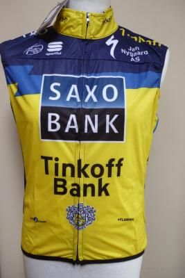 Gilet coupe-vent Bodyfit SAXO-TINKOFF