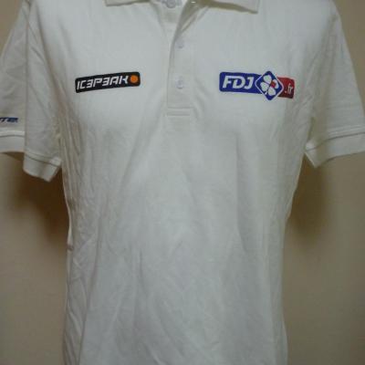 Polo blanc FDJ.fr (mod.2)