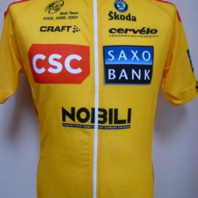 Maillot jaune CSC-SAXO BANK (taille L)