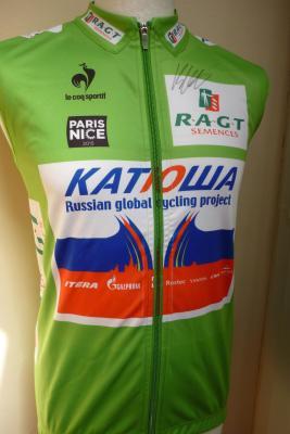 Gilet windtex vert Paris-Nice-Katusha 2015