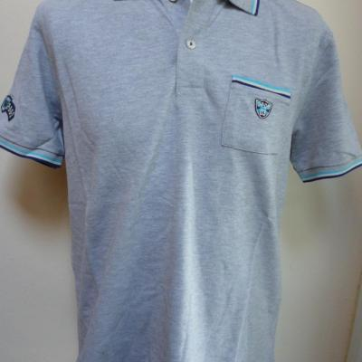Polo gris OPQS (taille M)