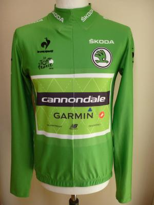 Maillot vert protocole TDF 2015-CANNONDALE-GARMIN