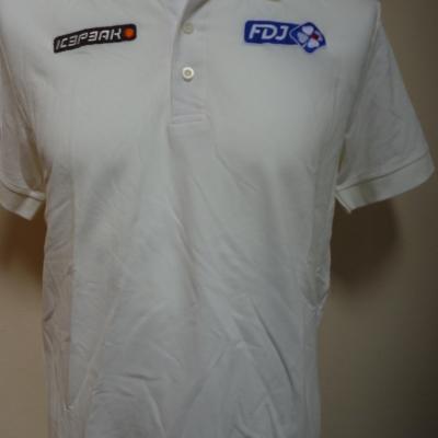 Polo blanc FDJ (taille S)