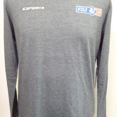 T-shirt ML gris FDJ.fr (taille XS)