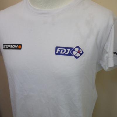 T-shirt blanc FDJ (mod.2)