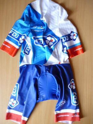 Combinaison CLM FDJ (cuissard bleu, taille S)