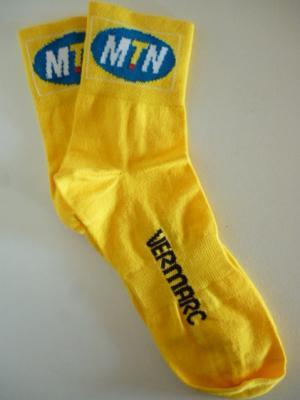 Socquettes jaunes MTN-QHUBEKA (taille L/XL)