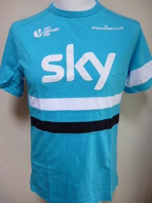 T-shirt bleu Rapha-SKY