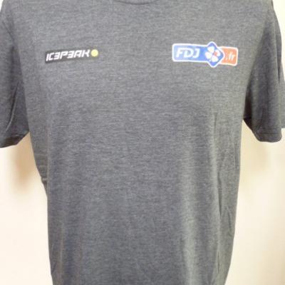 T-shirt gris FDJ.fr (taille L)