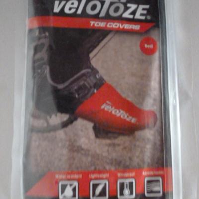 Couvre-chaussures embouts rouges VELOTOZE (taille unique)
