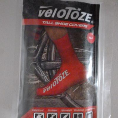 Couvre-chaussures hauts rouges VELOTOZE (taille M)