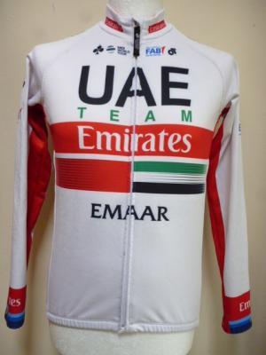 Maillot ML doublé UAE-TEAM EMIRATES 2019 (liserés)