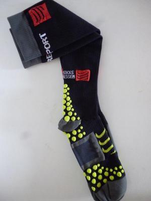 Chaussettes compression Compressport (noires)