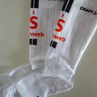 Socquettes aéros SUNWEB 2020 (taille M, blanc)