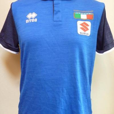 Polo bleu équipe d'ITALIE (taille S, mod.2)