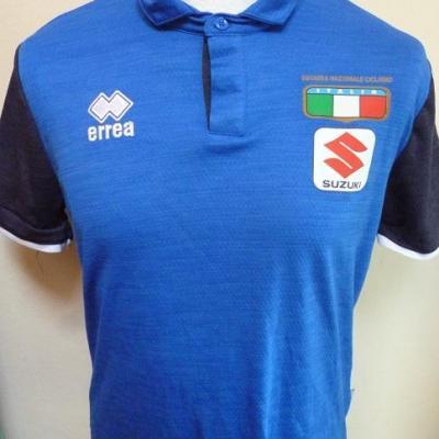 Polo bleu équipe d'ITALIE (taille S, mod.1)
