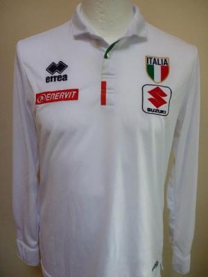 Polo blanc ML équipe d'ITALIE (taille S)