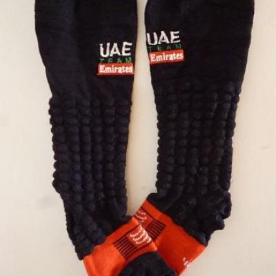Chaussettes basses compression Compressport-UAE TEAM EMIRATES 2020 (taille42/44)