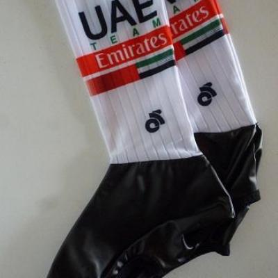 Couvre-chaussures aéros UAE-TEAM EMIRATES 2020 (taille L)