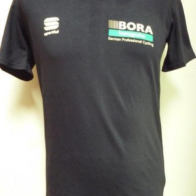 T-shirt noir BORA-HANSGROHE 2019 (taille S)