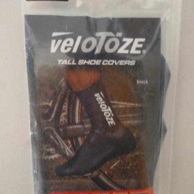 Couvre-chaussures hauts noirs VELOTOZE (taille M)