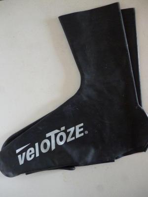 Couvre-chaussures hauts noirs VELOTOZE (taille L)