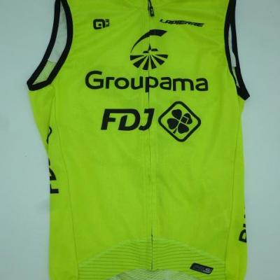Gilet coupe-vent GROUPAMA-FDJ (taille XS, jaune fluo)