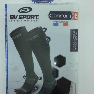 Chaussettes de compression noires BV SPORT (taille M+)