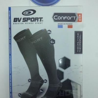 Chaussettes de compression noires BV SPORT (taille M)