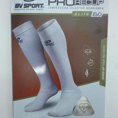 Chaussettes de récupération blanches BV SPORT (taille S+)