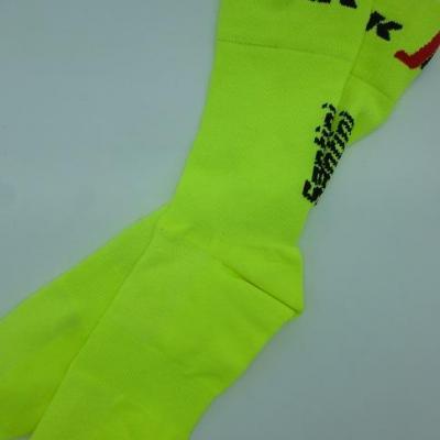 Socquettes TREK-SEGAFREDO 2021 (taille M/L, jaunes)