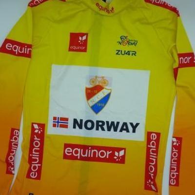 Maillot jaune équipe de NORVEGE/ARCTIC RACE 2021 (taille M)
