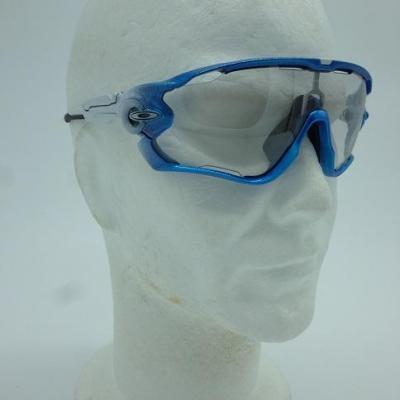 Lunettes OAKLEY-JAWBREAKER (bleu/blanc, Photochromic)