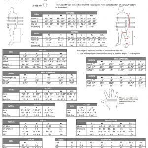 Pearl izumi clothing size chart