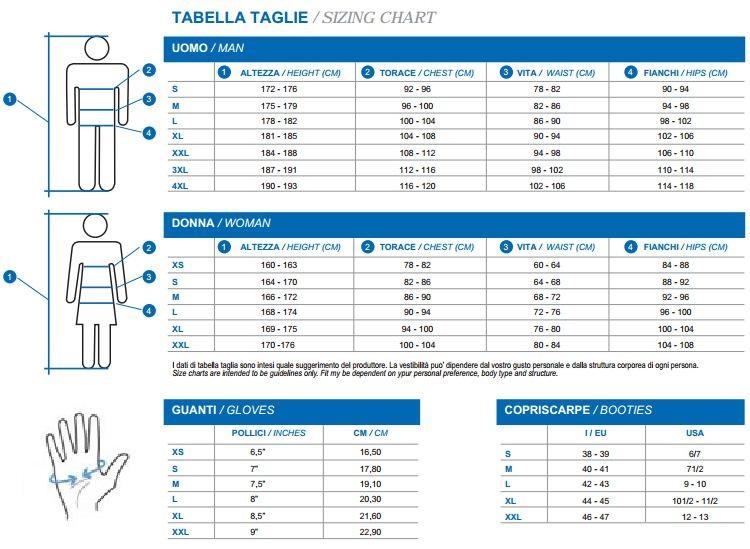 Santini size guide 1