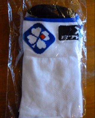 Socquettes FDJ (bord bleu, taille S/M)